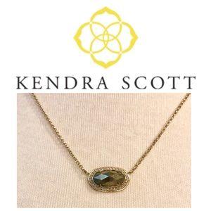 Kendra Scott Elisa necklace bronze color stone